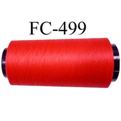 Cone de fil mousse polyamide fil n° 110 / 2 couleur rouge tirant légèrement sur le corail cone de 1000 mètres  bobiné en France