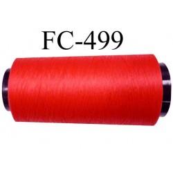 Cone de fil mousse polyamide fil n° 110 / 2 couleur rouge tirant légèrement sur le corail cone de 5000 mètres  bobiné en France