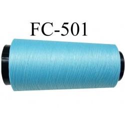 Cone  de fil mousse polyamide fil n° 110 / 2 couleur bleu longueur du cone 2000 mètres  bobiné en France