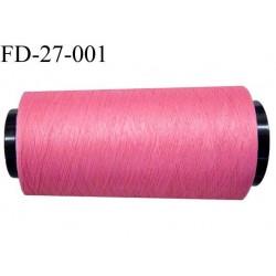 destockage  Cone de fil mousse polyamide n° 120 couleur rose malabar longueur  2000 mètres bobiné en France