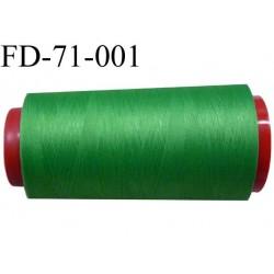 destockage  Cone de fil mousse polyamide n° 120 couleur vert longueur  2000 mètres bobiné en France