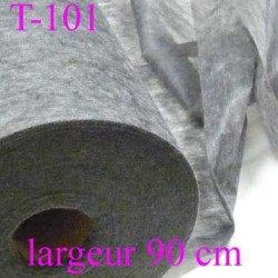 tissus  thermocollant épaisseur léger gris largeur 90 cm prix au mètre