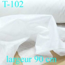 tissus Entoilage moyen thermocollant  moyen largeur 90 cm prix au mètre