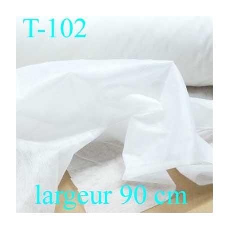 tissus thermocollant épaisseur moyen  blanc largeur 90 cm prix au mètre
