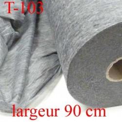 tissus thermocollant épaisseur moyen renforcé gris largeur 90 cm prix au mètre
