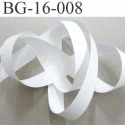 Galon ruban biais ganse en vinyl fin doux et souple largeur 16 mm couleur blanc très très solide prix au mètre