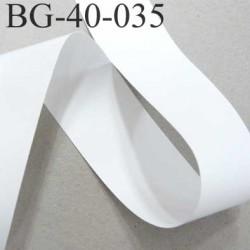 Galon ruban biais ganse en vinyl fin doux et souple largeur 40 mm couleur blanc très très solide prix au mètre
