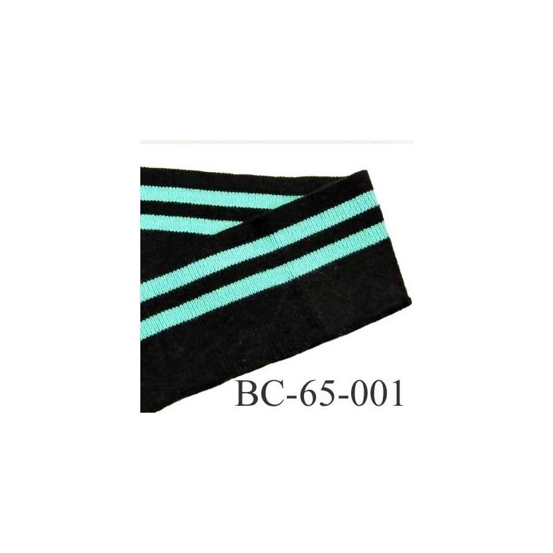bord c te 65 mm jersey synth tique largeur 65 mm longueur m tre couleur noir et vert lagon. Black Bedroom Furniture Sets. Home Design Ideas
