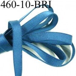 Elastique plat largeur 10 mm couleur bleu brillant superbe  très belle qualité haut de gamme prix au mètre