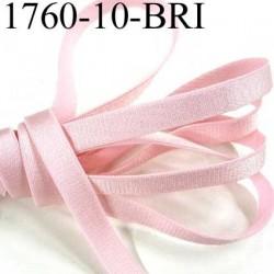 Elastique plat largeur 10 mm couleur rose poudre brillant superbe  très belle qualité haut de gamme prix au mètre