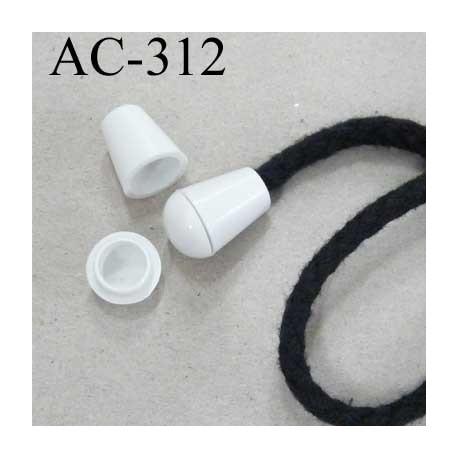 arr t stop cordon avec embout bouchon pvc couleur blanc cass pour cordon de 5 mm ou moins de. Black Bedroom Furniture Sets. Home Design Ideas