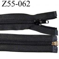 fermeture zip à glissière longueur 55 cm couleur noir séparable largeur 3.2 cm zip glissière nylon largeur 6 mm
