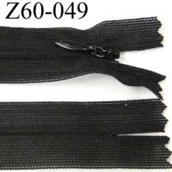destockage fermeture zip à glissière invisible noir longueur 60 cm largeur 2.5 cm  non séparable largeur de glissière 4 mm
