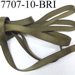 Elastique plat largeur 10 mm couleur vert kaki superbe  très belle qualité haut de gamme prix au mètre