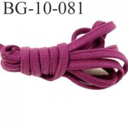 Cache Armature et baleine underwire casing galon couleur violet violine largeur 10 mm épaisseur 4 mm haut de gamme prix au mètre