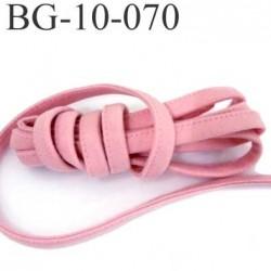 Cache Armature et baleine underwire casing galon couleur rose bonbon largeur 10 mm épaisseur 4 mm haut de gamme prix au mètre
