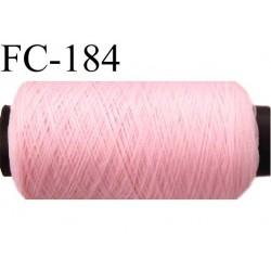 bobine de fil mousse polyamide n° 120 couleur rose longueur de la bobine  500 mètres bobiné en France