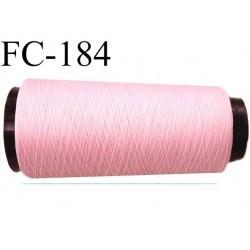 Cone de fil mousse polyamide fil  n° 120 couleur rose longueur 5000 mètres bobiné en France