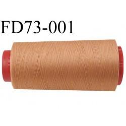 Destockage  Cone de fil mousse polyamide n° 130 couleur marron clair longueur  2000 mètres bobiné en France