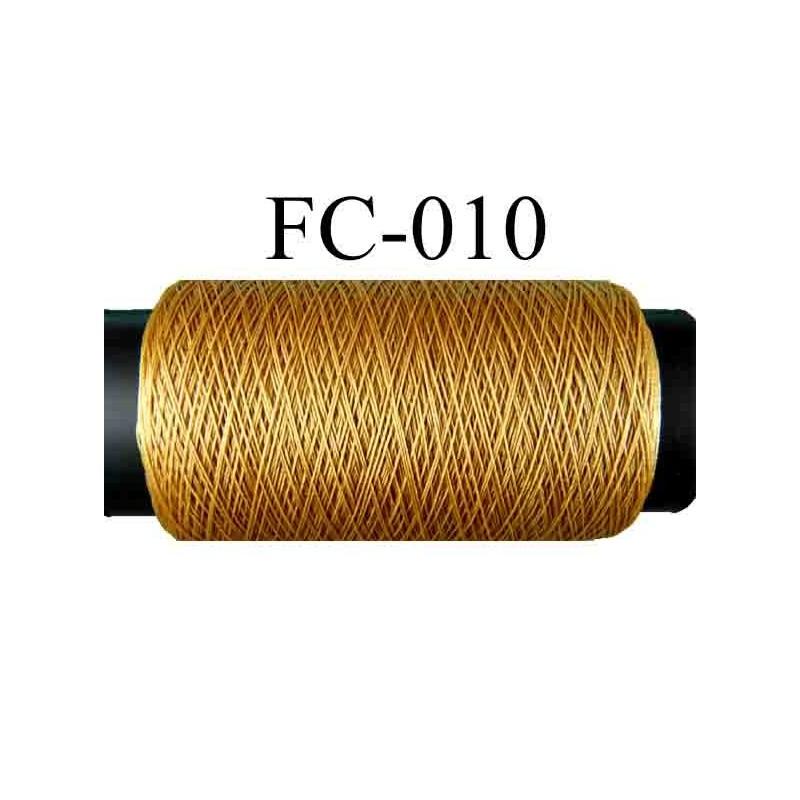 bobine fil polyester continu n 120 couleur marron clair caramel blond longueur 500 m tres. Black Bedroom Furniture Sets. Home Design Ideas