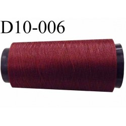 Destockage de fil nylon 2/70 solide couleur prune bordeaux longueur 1000 mètres bobiné en France