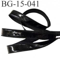 galon ruban passementerie largeur 15 mm avec bande anti glisse silicone non extensible  couleur noir prix au mètre