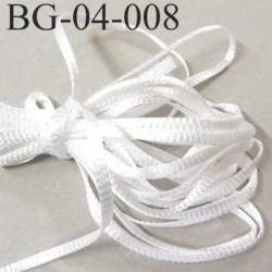 gallon cordon ruban ou lien a plat largeur 4 mm couleur blanc brillant attention vraiment très très solide prix au mètre