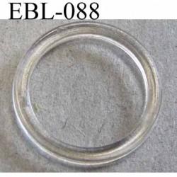 anneau plastique transparent pour soutien gorge diamètre extérieur 20 mm diamètre intérieur 16 mm prix à l'unité