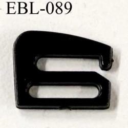 crochet en pvc largeur extérieur 14 mm largeur intérieur 10 mm couleur noir brillant pour soutien gorge prix à l'unité