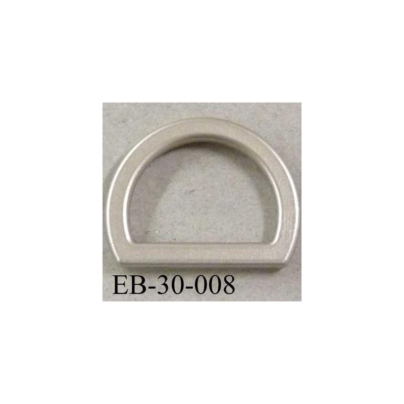 2c84dc816e33 Boucle étrier demi rond en pvc couleur gris argent largeur extérieur 3 cm  intérieur 2.2 cm idéal sangle de 2 cm hauteur 2.2 cm