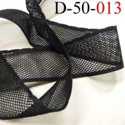 dentelle élastique  galon couleur noir largeur 50 mm élasticité 40 % prix au mètre