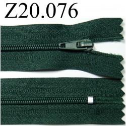 fermeture éclair longueur 20 cm couleur vert non  séparable zip nylon largeur 2.5 cm