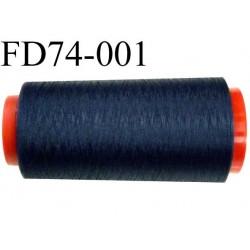 Destockage  Cone de fil mousse polyester fil n° 150 couleur bleu marine  longueur 1000 mètres bobiné en France