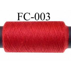 bobine de fil n° 120 polyester économique couleur rouge longueur de la bobine 500 mètres bobiné en France