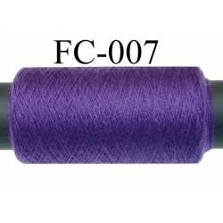 bobine de fil n° 120 polyester économique couleur violet longueur de la bobine 500 mètres bobiné en France