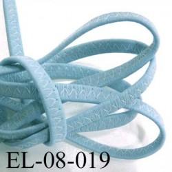 Elastique galon largeur 8 mm façon cuir très très résistant épaisseur 3 mm couleur bleu très belle qualité prix au mètre