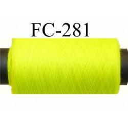 bobine de fil n° 120 polyester économique couleur jaune fluo longueur de la bobine 500 mètres bobiné en France