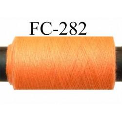 bobine de fil n° 120 polyester économique couleur orange fluo longueur de la bobine 500 mètres bobiné en France