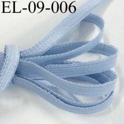 élastique picot plat boucles couleur bleu lumineux largeur 9 mm prix au mètre