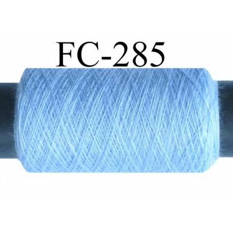bobine de fil n° 120 polyester économique couleur bleu longueur de la bobine 500 mètres bobiné en France