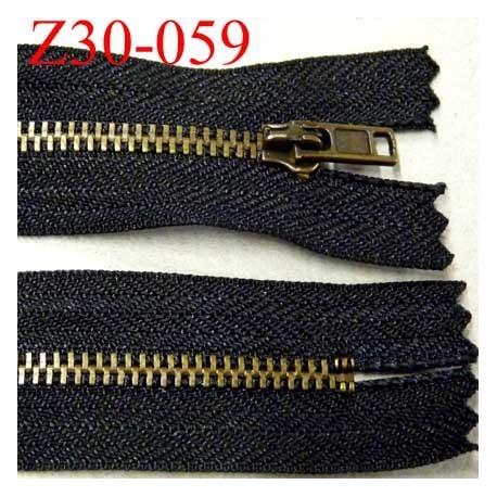 fermeture zip à glissière en métal  longueur 30 cm couleur noir non séparable  largeur 2.8 cm glissière largeur 5 mm