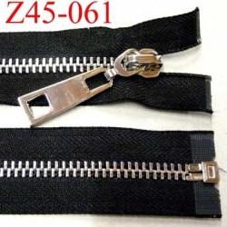 fermeture zip longueur 45 cm couleur noir séparable superbe largeur 3,8 cm largeur de la glissière métal chromé largeur 8 mm