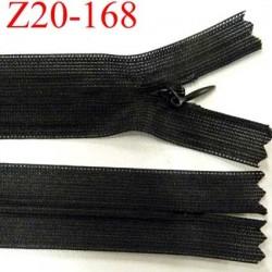 fermeture zip invisible longueur 20 cm couleur noir non séparable zip nylon largeur 2,5 cm