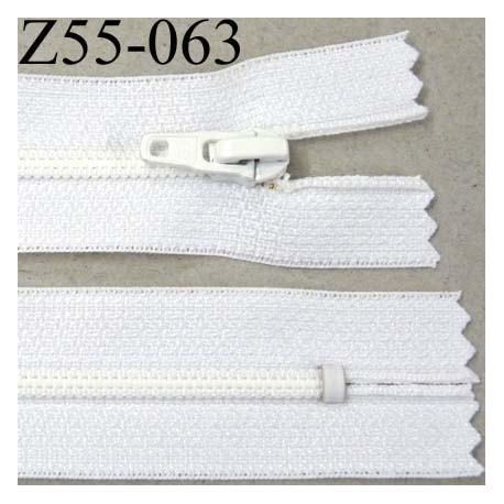 fermeture zip glissi re longueur 55 cm couleur blanc non s parable largeur 2 5 cm glissi re. Black Bedroom Furniture Sets. Home Design Ideas
