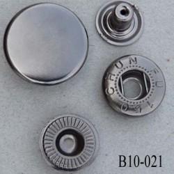 bouton pression 10 mm métal couleur acier brillant diamètre 10 mm ensemble de 4 pièces par bouton