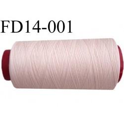 destockage  Cone de fil mousse polyamide n° 100/2 couleur rosé chair longueur  2000 mètres bobiné en France