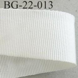 Galon ruban gros grain largeur 22 mm couleur écru 45 % viscose 55 % coton très solide