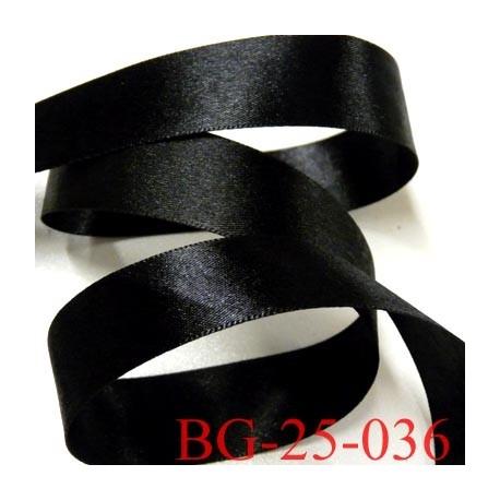 galon ruban satin brillant couleur noir double face superbe très beau largeur 25 mm prix au mètre