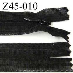 fermeture longueur 45 cm noir invisible largueur 2.3 glissière nylon largeur 4 mm