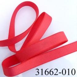 Elastique plat largeur 10 mm couleur rouge sweat brillant superbe  très belle qualité haut de gamme prix au mètre